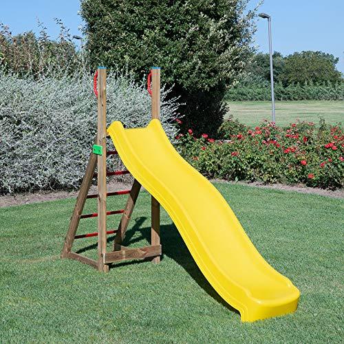 SavinOutdoor Scivolo in Legno per Bambini Quick Giochi da Giardino