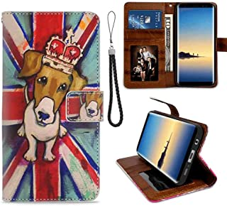 British Flag Dog Wallet Case Fits for Samsung Galaxy S7 (2016) (5.1-Inch) with Coin Slot