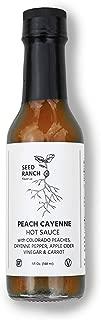 Seed Ranch - Peach Cayenne Hot Sauce (medium) Tangy, buffalo style, gluten free, paleo, organic ingredients