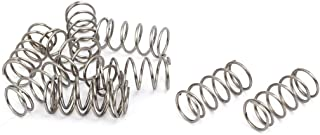 0.5mmx4mmx30mm 304 Stainless Steel Compression Spring Silver 20pcs Liberty