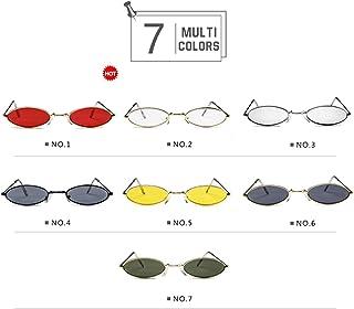 ビンテージサングラス-メタルフレーム,オーバルレンズ,複数の色 (Color : NO.7)
