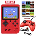 Handheld Game Console, Retro Mini Game Player with 400 Classical Games, 3 inch Screen Video Games Console Support for Connecting TV & Two Players1020mAh Rechargeable Battery Present for Kids/Adult by ISKYDRAW