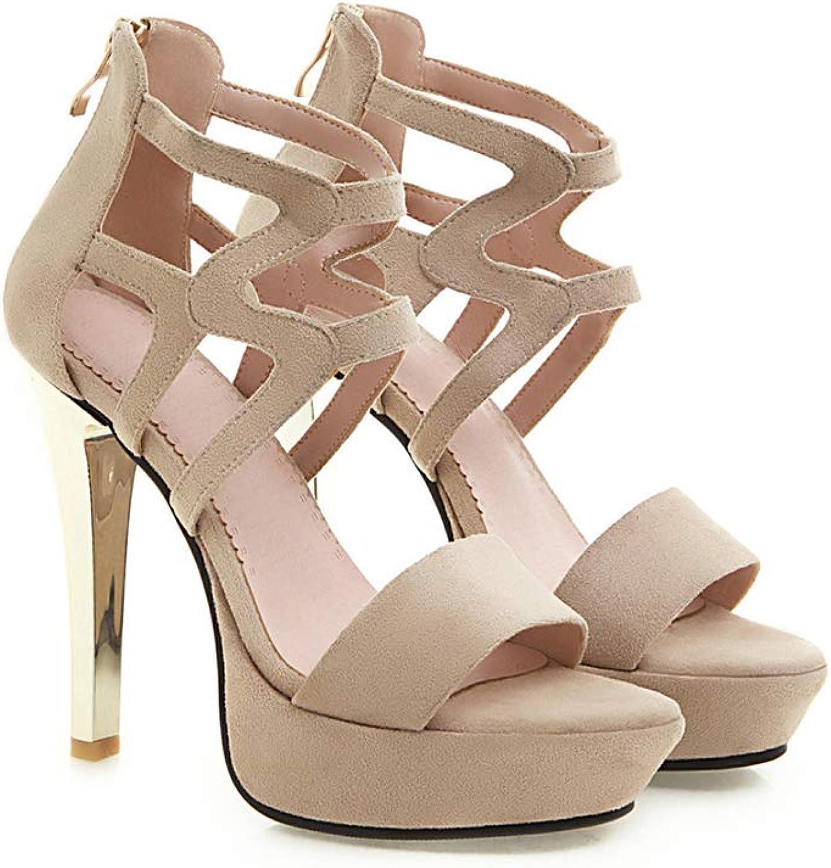 Lnyy Sommer, Damen, High Heels, Durchbrochene Schuhe, Sandalen, einzelne Schuhe