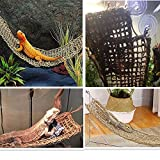 KHLZ US Reptile Hammock Lizard Lounger, 100% Natural Seagrass Fibers for Anoles, Bearded Dragons, Geckos, Iguanas, and Hermit Crabs (Rectangle)