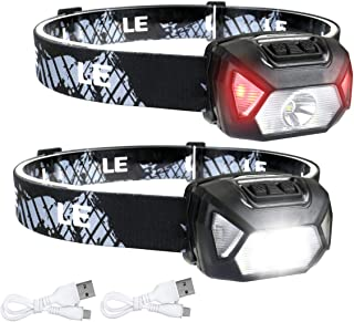 LED Headlamp Flashlights, Rechargeable Headlights with 6 Modes, Super Bright, Lightweight and Comfortable, Perfect for Adu...