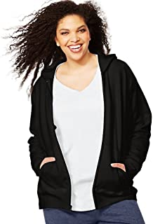 Just My Size Women's Plus-Size Full Zip Fleece Hoodie