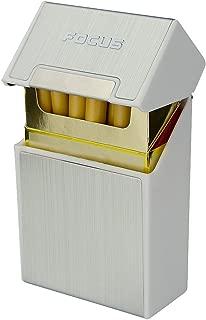 Focus Plastic Metal Cigarette Case - Hold 20 pcs 85s' Cigarettes Box Magnetic Cover Design for Men & Women