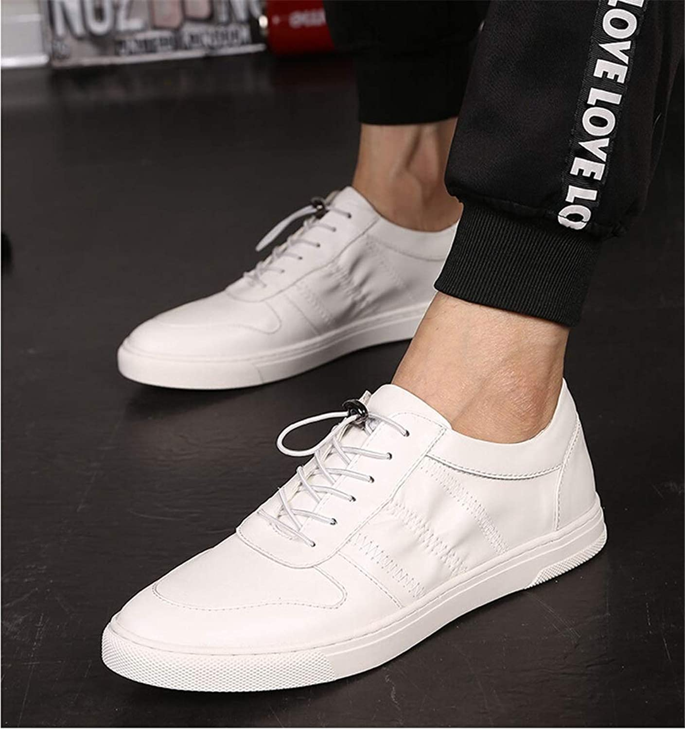 Mens Casual shoes Low Top Leather Lace Up Deck shoes Loafers & Slip-Ons Driving shoes Fitness & Cross Training shoes YAN