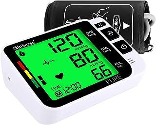 InSense PURE Tensiómetro de brazo Monitoree automáticamente la medición con una pantalla LCD digital Estuche portátil para presión arterial Detector de latidos cardíacos Certificado médicamente
