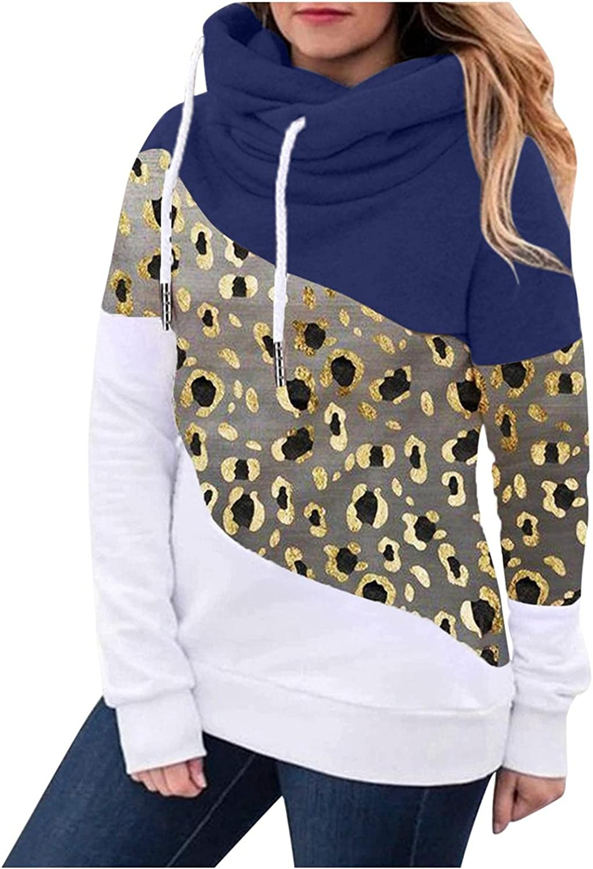felwors Sweatshirt for Women, Womens Pullover Fall Hoodies Color Block Tunics Loose Casual Comfy Long Sleeve Sweatshirts