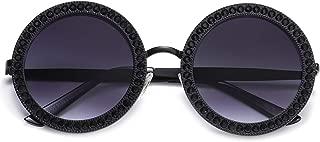 Round Oversized Rhinestone Sunglasses for Women Festival...