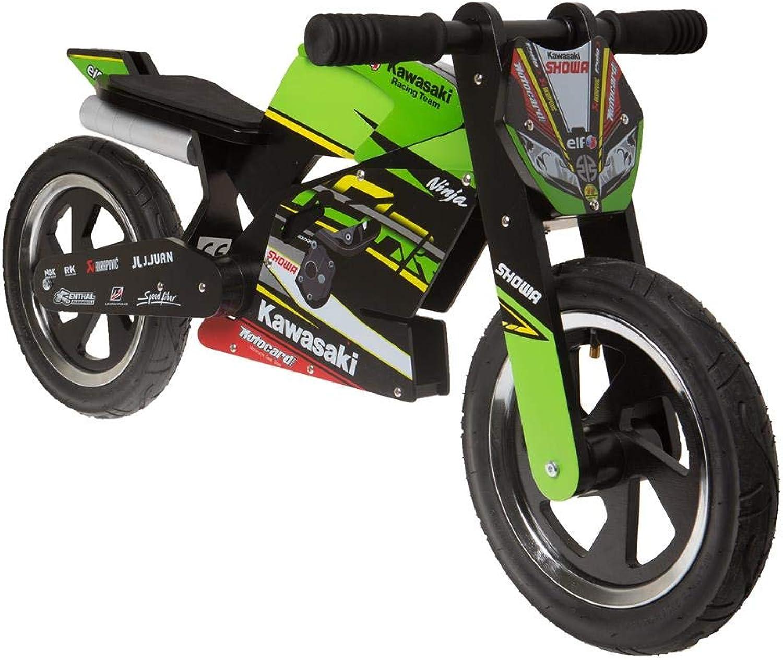 alto descuento Kawasaki Kawasaki Kawasaki Ninja Kiddimoto Rueda. Unidad Aprendizaje Cilindro de madera con neumáticos  hasta 42% de descuento