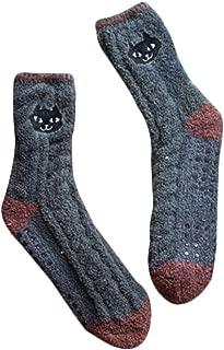 Soft Fuzzy Sleeping Socks Cartoon Slipper Socks Anti-skid Floor Socks-A7