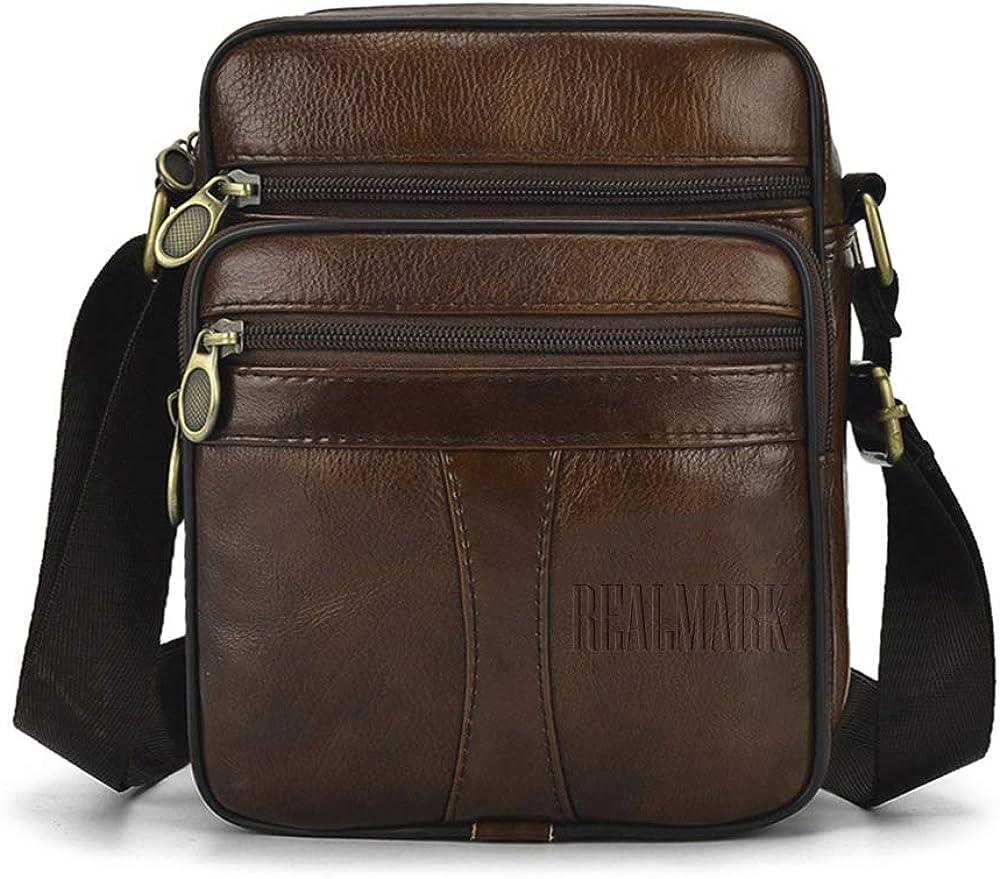 Realmark, borsello per uomo a tracolla, in vera pelle Realmark039