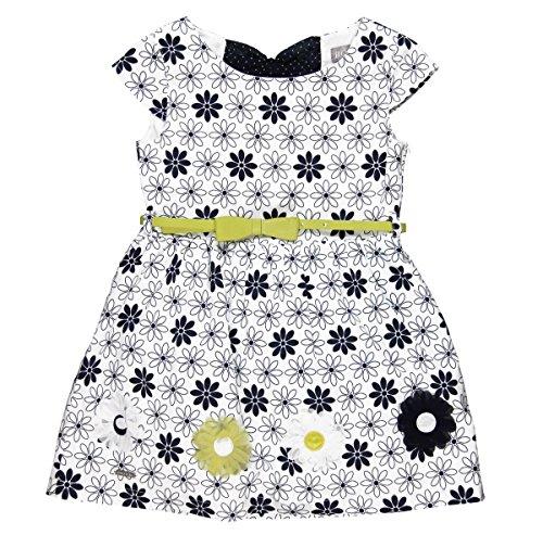 Boboli Mädchen Satin Dress for Girl Kleider, Mehrfarbig (Print 9430), 140 (Herstellergröße: 10)