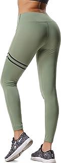 FITTOO Pantalones Deportivos Leggings Mujer Yoga de Alta Cintura Elásticos y Transpirables para Running Fitness Yoga con Gran Elásticos6321