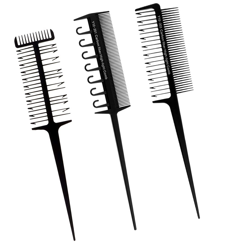 護衛スカルクフィードバックCUTICATE ヘアダイブラシ プロ用 へアカラーセット DIY髪染め用 サロン 美髪師用 ヘアカラーの用具 3本入