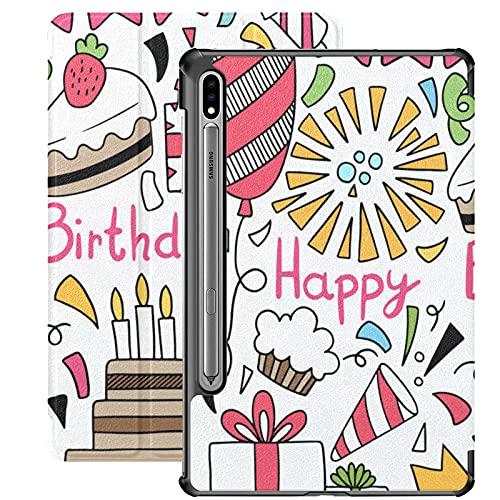 Funda para Galaxy Tab S7 Funda Delgada y Liviana con Soporte Funda para Samsung Funda para Galaxy Tab S7 Tablet 11 Pulgadas Sm-t870 Sm-t875 Sm-t878 2020 Release, 07 09 044 Hand Drawn Party Doodle HAP