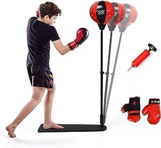Sfeexun Punchingball Erwachsene Kinder Speedball Boxen Boxsack Boxbirne H/ängend mit Wirbel und Luftpumpe zum Stressabbau