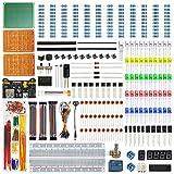 WayinTop Electrónico Starter Kit con Tutorial Español, Breadboard Jumper Cables Puente Kit, LED Emisores Diodos Y Resistencias Kit, PCB Prototipo, Breadboard Fuente para Arduino