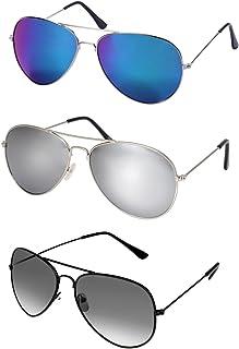 32a5bf2e71 WODISON Vintage Aviator Gafas de sol Set Lente Espejo Reflectante