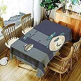 XXDD Mantel de Jirafa de Dibujos Animados patrón Animal Creativo cómodo hogar Impermeable y Cubierta de Mantel a Prueba de Polvo A10 140x200cm
