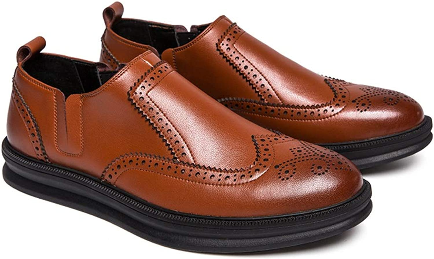 Yajie-shoes, Business Oxford Casual Classic Carvings British Style Brogue shoes For Men (color   Brown, Size   8.5 UK)