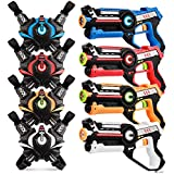 Infrared Laser Tag, Upgraded Blasters Gun Toys with Vest Infrared Battle Mega Pack Set of 4 Indoor and Outdoor, Group Activity Fun for Kids Age 6 7 8 9 10 11 12+ Boys Girls by kidpal