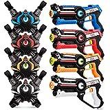kidpal Infrared Laser Tag, Upgraded Blasters Gun Toys with Vest Infrared Battle Mega Pack Set of 4...