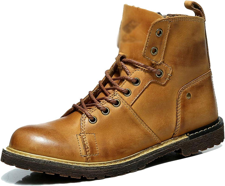 Herren Draussen Arbeit Beilufig echtes Leder Schnüren High-Top-Schuhe Militr Heer Mann Stiefel Kampf Taktisch Martin Stiefel Trekking und Wandern Stiefelies