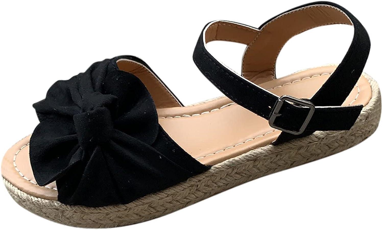 Women's Platform Buckle Sandals Open Toe Wedge Sandals with Stud