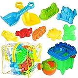 BRAMBLE! 13 Juguetes de Playa para Niños - Juegos Playa, Set de Juguete de Arena