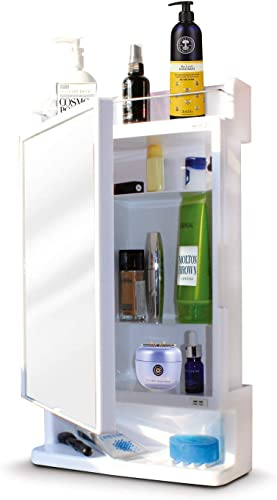 BRANCO Bathroom Mirror Cabinet Rich Look with Mirror White