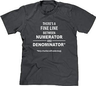 Mens T-Shirt Fine Line - Only Fraction Understand