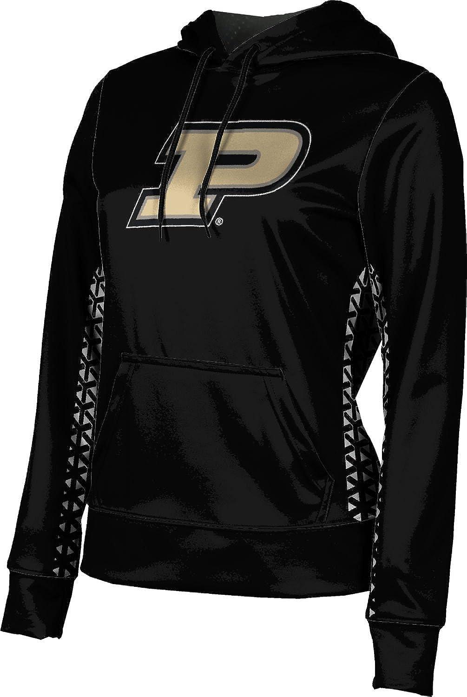 ProSphere Purdue University Girls' Pullover Hoodie, School Spirit Sweatshirt (Geometric) F9BA2 Black and Light Gray