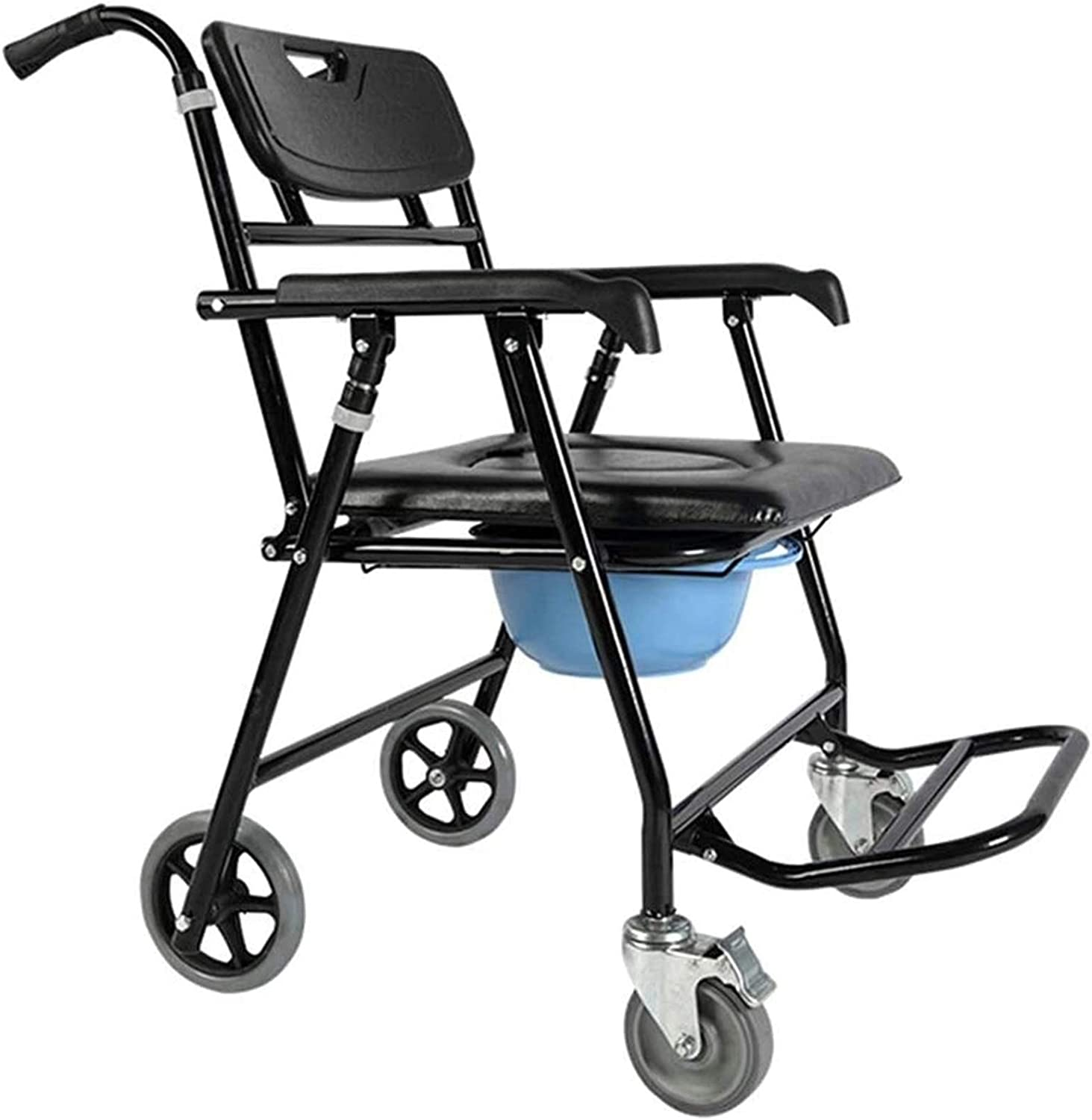 HMMN Foldable National products service Chair Commode Wheels Used Bathing Household for fo
