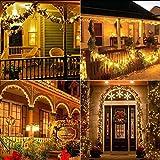 Solar Lichterkette Aussen, BrizLabs 24M 240 LED Außen Lichterkette Wasserdicht Kupferdraht Solarlichterkette 8 Modi Deko für Weihnachten Garten, Balkon, Terrasse, Bäume, Hochzeit, Party, Warmweiß - 3