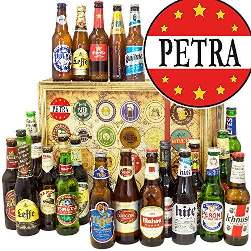 Petra + 24 Biere der Welt + Bier Geschenke + Petra Geschenke + Advent Kalender Bier