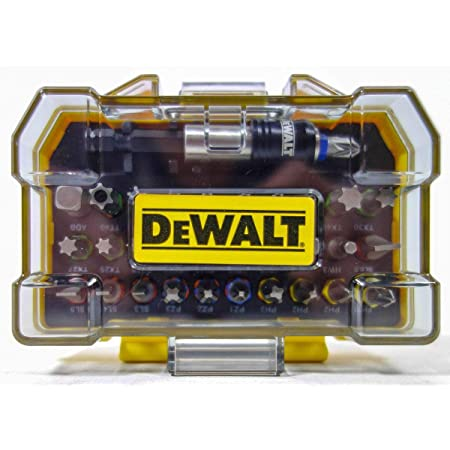 "DeWalt DT7969-QZ Set Avvitatura Composto da 32 Pezzi Assortiti, Adattatore Magnetico 1/4"""