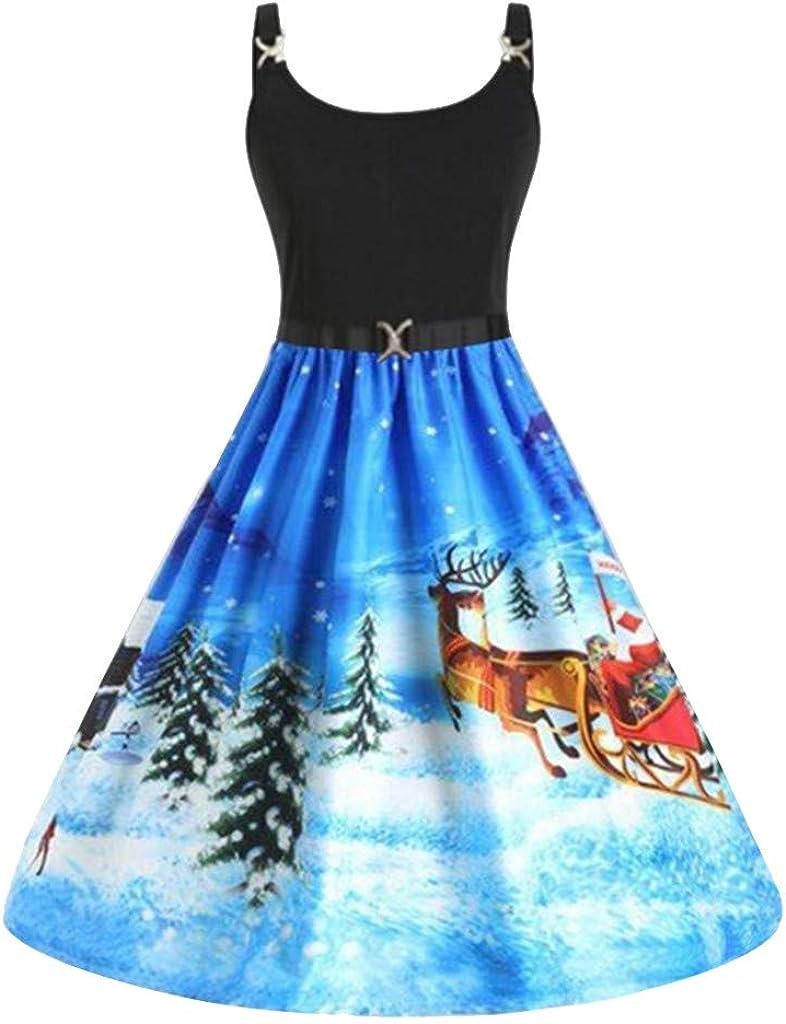 KYLEON_Christmas Ranking TOP4 Dresses for Women Sleeveless Excellence Prom Santa Vintage