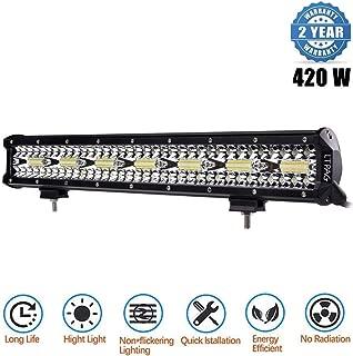 2 Jahre Garantie LED Arbeitsscheinwerfer 2 Pack 18 Watt 1260lm Zusatzscheinwerfer Offroad Flutlicht IP67 Wasserdicht Nebelscheinwerfer Led Light Bar f/ür SUV Boot 4 Lampe
