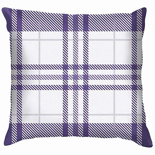 DJNGN Sofa Cushion Case,Decorate Pillowcase,Premium Square Pillow,Luxurious Throw Pillow Cover,Car Pillow Cushion Cover,Tartan Fabric Purple Ultra Beauty Fashion