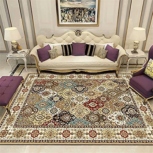 alfombra bebé Beige Alfombra de la sala de estar Color de arroz Vintage Patrón floral Modelo suave alfombra duradera decoracion habitacion 160x200cm cuadros cabecero cama matrimonio 5ft 3''X6ft 6.7''