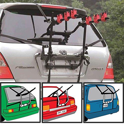 Trendi 3 Bicycle Bike Car Cycle Carrier Rack Universal Fitting Saloon Hatchback Estate