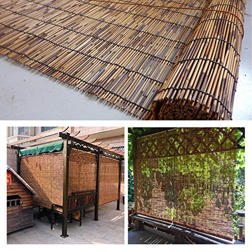 L-KCBTY Decoración del Hogar Persiana Bambú, Persianas De Caña Naturale, AislamientoTérmico/Transpirables, Toldo Vertical, Persianas Enrollables para Interior/Exterior