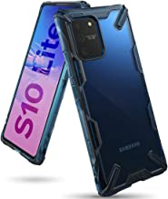 Ringke Case for Galaxy S10 Lite Hard Back Cover Fusion-X Ergonomic Transparent Shock Absorption TPU Bumper (Compatible with Samsung Galaxy S10 Lite) - Blue