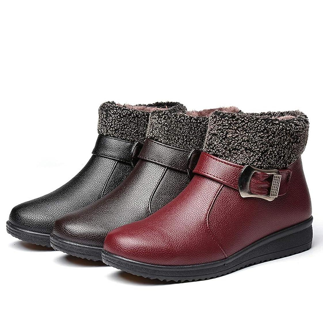 荷物繰り返しどこか婦人靴 スノーブーツ ショートブーツ ボア付き 厚底 ファー 防寒 ジッパー ベルト 冬用 歩きやすい 滑り止め 可愛い 疲れない 通勤 柔らかい 通学 オシャレ 保温 レッド ブラック ブラウン ママのシューズ