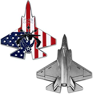 US Air Force Challenge Coin F-35 Lightning II Fighter Jet Military Airman Gift