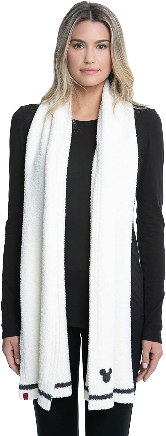 Barefoot Dreams Disney Mickey Mouse Knit Scarf, Winter Clothes for Men and Women