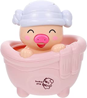 TOYANDONA 2Pcs Baby Bath Toys Animals Squirt Toys Bathtub Pig Toys Water Playing Toy for Toddlers Kids Children Random Color